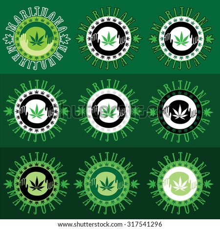 marijuana cannabis green leaf icon vector illustration - stock vector