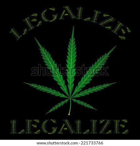 Marijuana (hemp) legalize. Vector illustration.