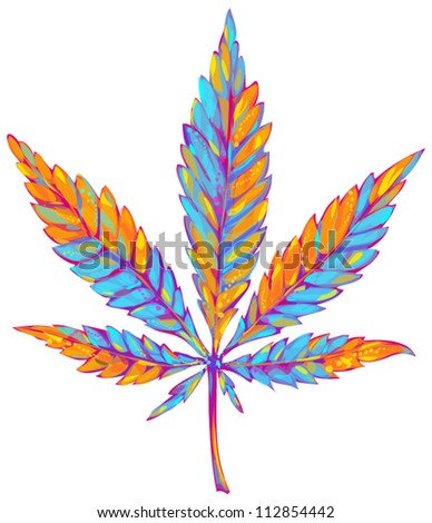 marijuana leaf - stock vector