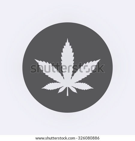 Marijuana leaf icon in circle . Vector illustration - stock vector