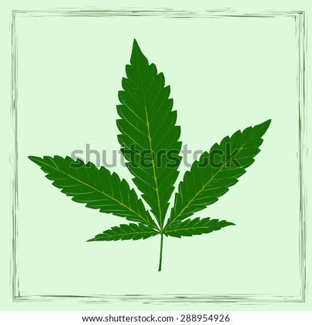 Marijuana leaf in abstract style - stock vector