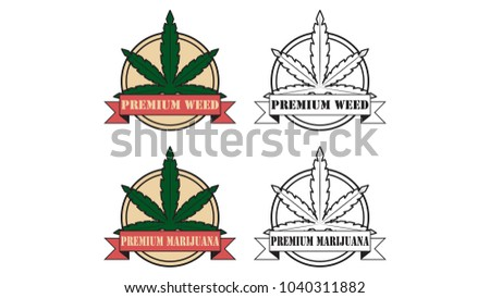 Marijuana Vector Logo Free Space Text Stock Vector 1040311882