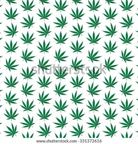 Marijuana Weed Pattern - stock vector