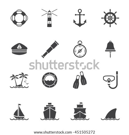 Marine and nautical icon
