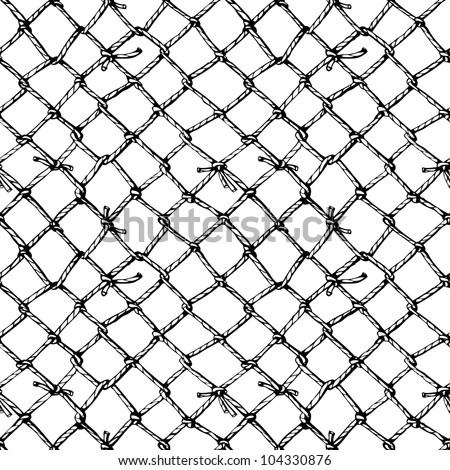 marine net - stock vector