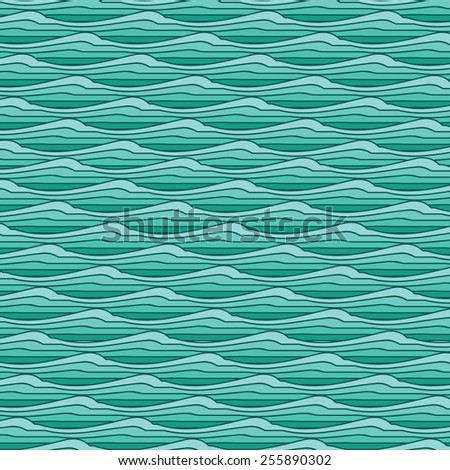 Marine wave pattern. Ripple pattern. Repeating  texture. Wavy graphic background.