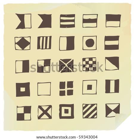 Mariners alphabet - stock vector