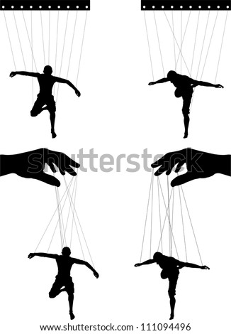 marionettes. fourth variant. vector illustration for design