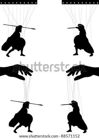 marionettes. second variant. vector illustration - stock vector