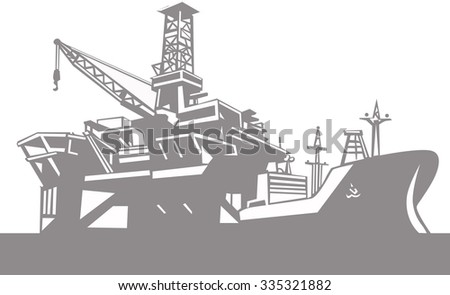 Maritime transport and shipping . Vector. - stock vector