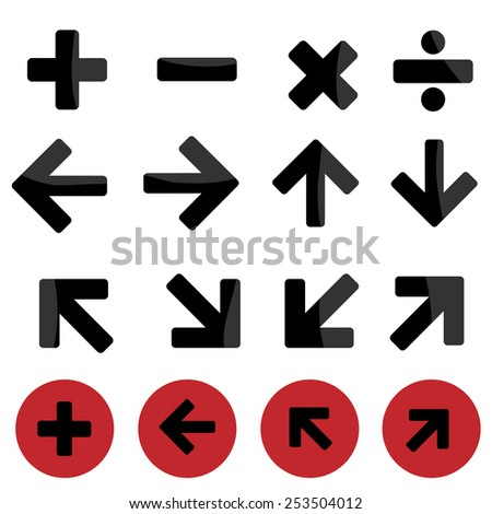 mark icon set made in vector   - stock vector