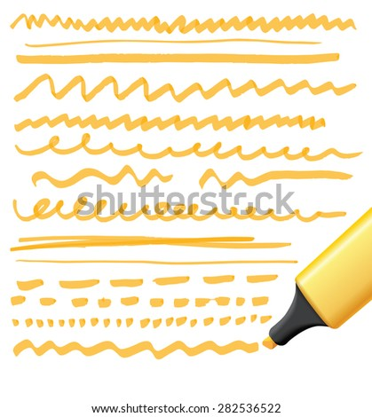 marker drawing series - color can be changed by one click - stock vector