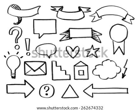 marker, felt-tip pen. Vector illustration - stock vector