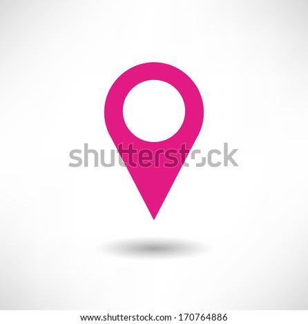 Marker icon - stock vector