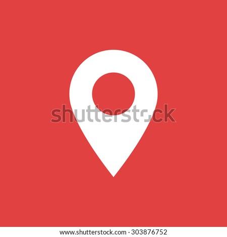 Marker icon, Map pointer icon - Vector - stock vector