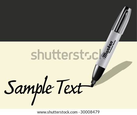 Marker Writing - Vector Illustration - stock vector