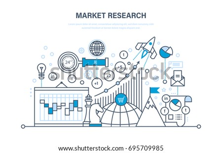 Market Research Analysis Growth Chart Research Stock Vector Royalty