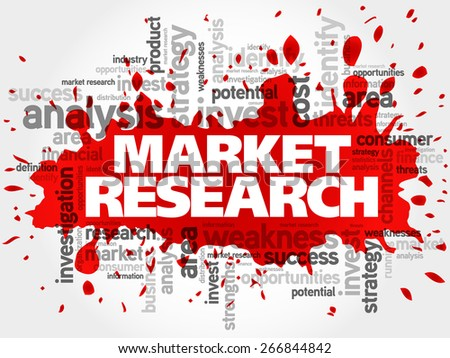Market research concept vector word cloud - stock vector