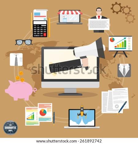 Marketing concept - stock vector