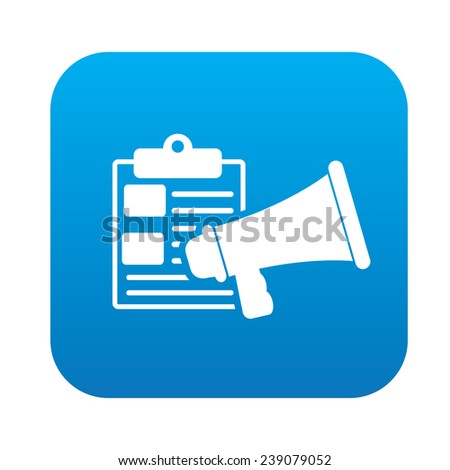 Marketing content on blue button,clean vector - stock vector
