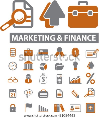 marketing & finance icons, signs, vector illustrations - stock vector