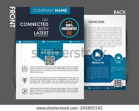 Marketing Flyer Template Eps Brochure Magazine Stock Vector