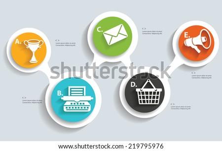 Marketing info graphics design,clean vector - stock vector