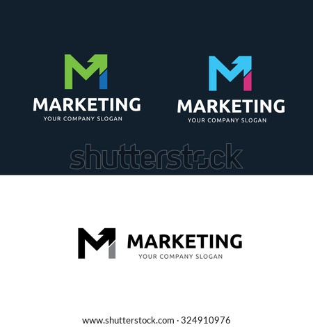 Marketing Logo,M letter Logo,Vector Logo Template - stock vector