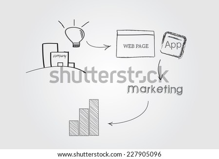 Marketing plan - stock vector