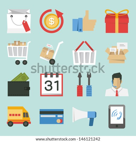 marketing-sales icons design, minimal style vector. - stock vector
