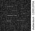 MARKETING. Seamless vector pattern. Word collage. Vector illustration. - stock photo
