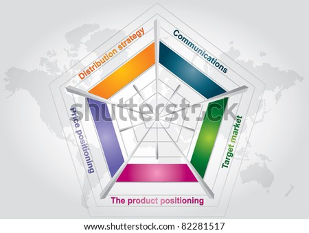 Marketing strategy chart- isolated abstract color chart - stock vector