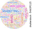 MARKETING. Word collage on white background. Vector illustration. - stock photo