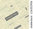 Marketing. Word collage. Vector illustration. - stock photo
