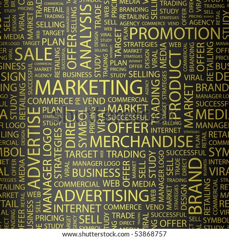 MARKETING. Word collage. Vector illustration. - stock vector
