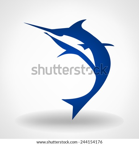 Marlin - stock vector
