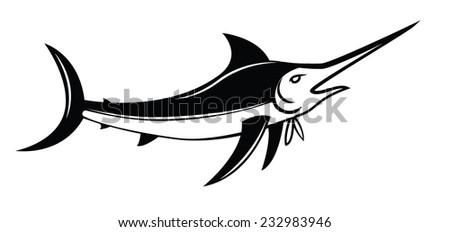 Marlin Fish Symbol - stock vector