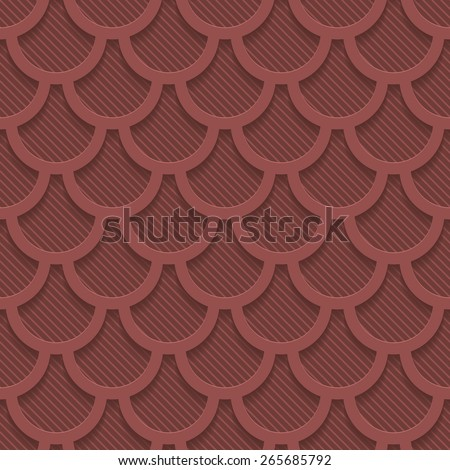 Marsala color perforated paper with cut out effect. Abstract 3d seamless background. Vector EPS10. - stock vector