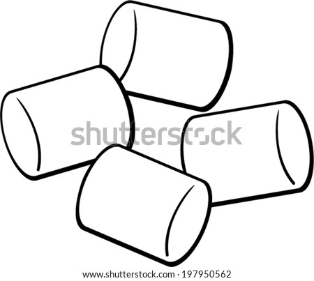 marshmallows - stock vector