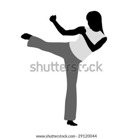 Martial art - stock vector