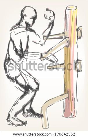 Martial art master - stock vector