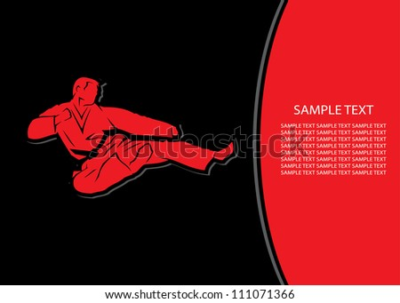 Martial arts background - vector illustration - stock vector