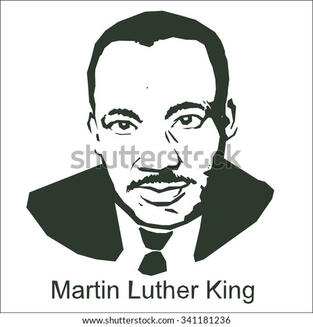 Martin Luther King - stock vector