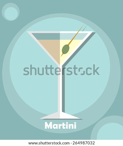 Martini glass icon. Vector illustration - stock vector