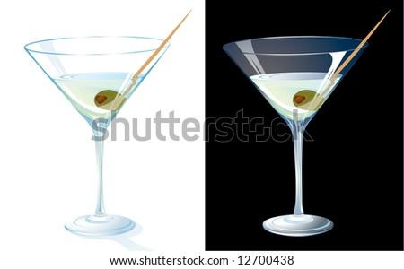 Martini. Vector. - stock vector