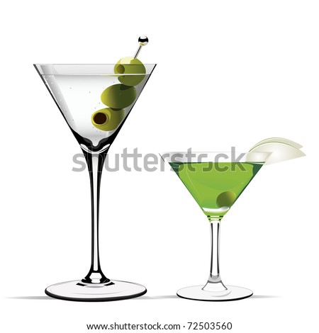 martini vector illustration - stock vector