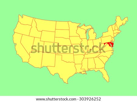Maryland Us Map Globalinterco - Us navy future map of united states