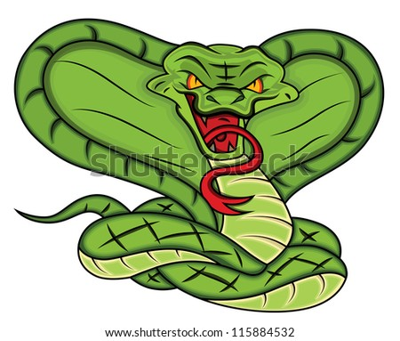 Mascot of Angry Snake Vector Illustration - stock vector