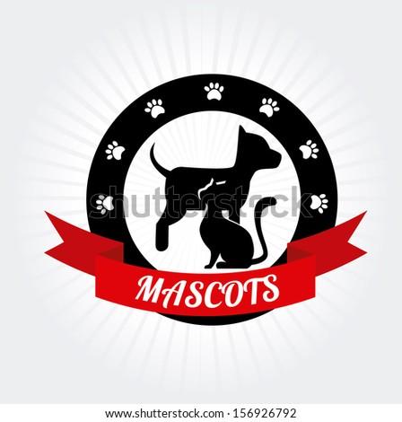 mascots design  over gray background vector illustration - stock vector