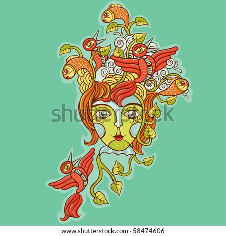 mask of the nature - stock vector